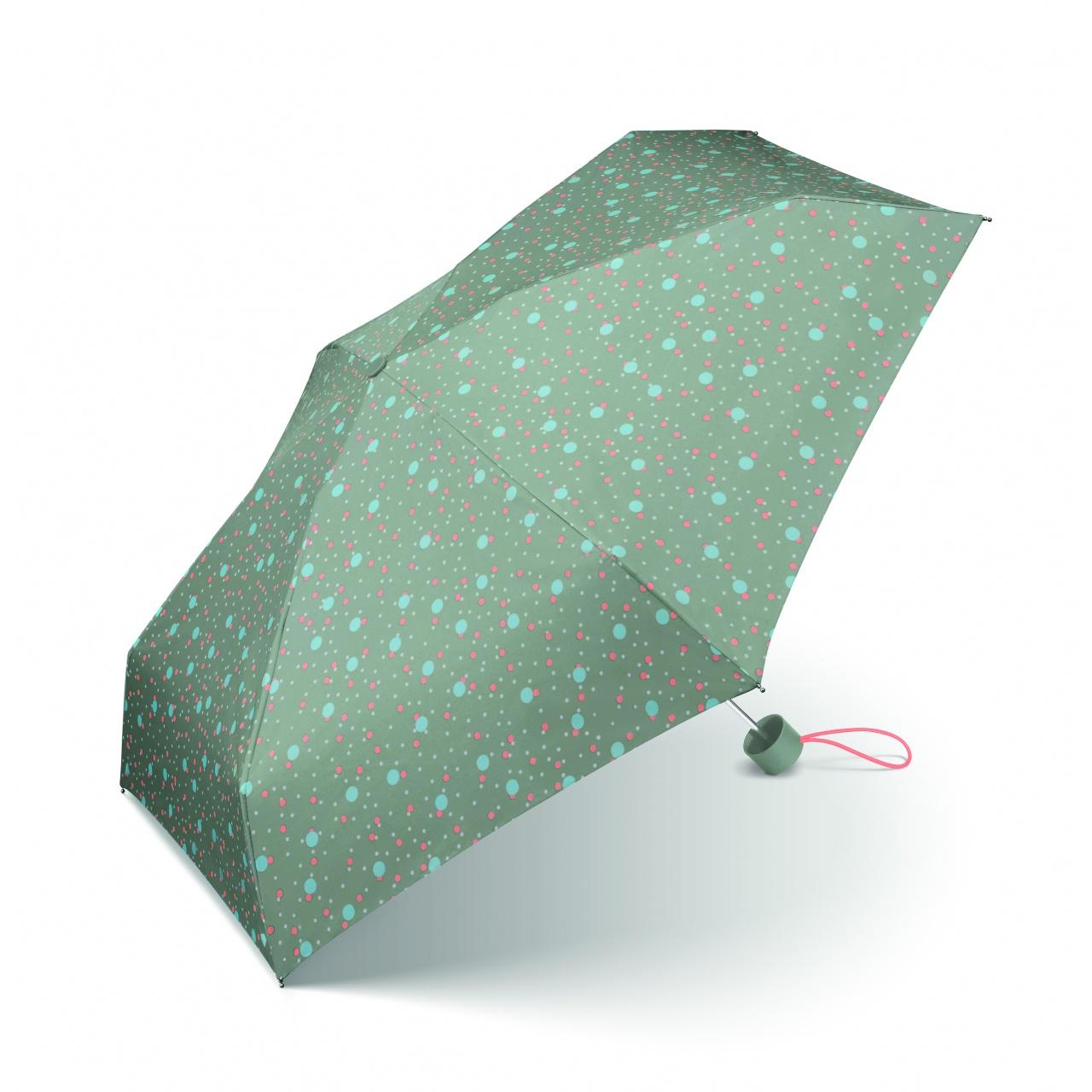 Umbrelă mini Esprit Petito Bouncing Dots, albastru