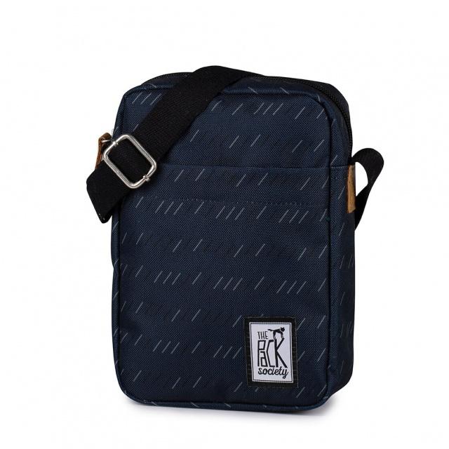 Geantă de umăr The Pack Society Dark Blue Stripe