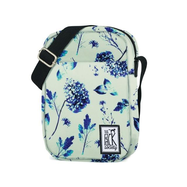 Geantă de umăr The Pack Society Off White Blue Flower