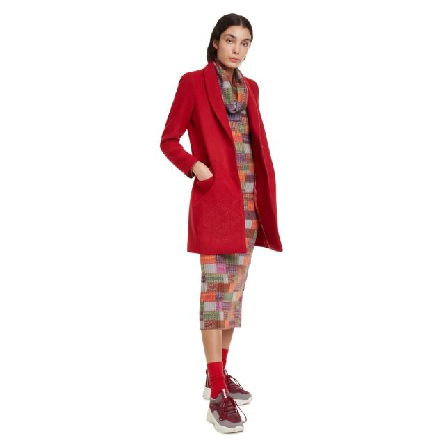 Palton pentru femei Desigual Abrig Ramal roșu