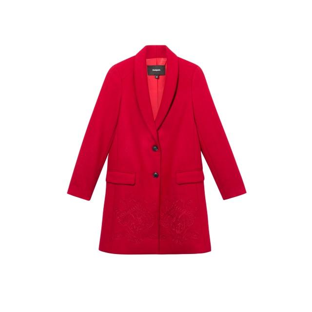 Palton pentru femei Desigual Abrig Ramal roșu :: 42