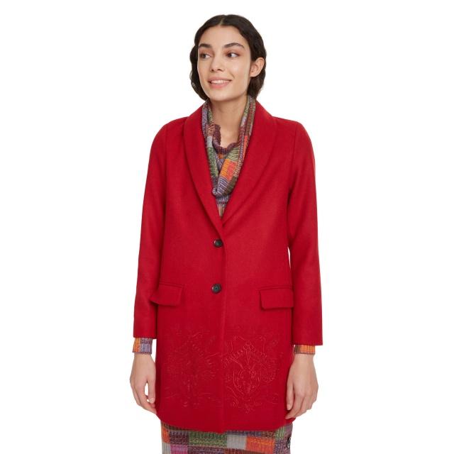 Palton pentru femei Desigual Abrig Ramal roșu :: 44