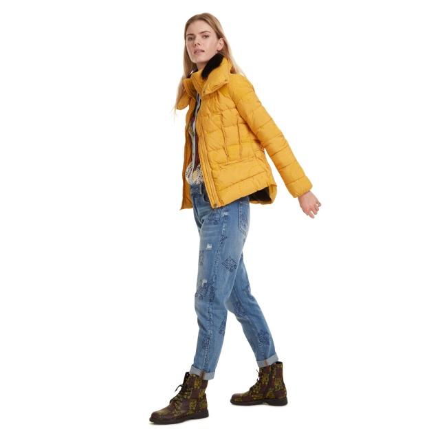 Geacă pentru femei Desigual Padded Sunna galben