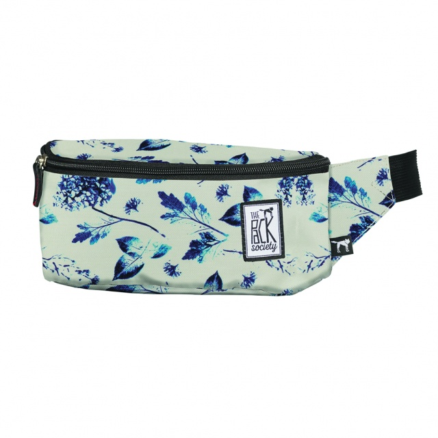 Borsetă The Pack Society Off White Blue Flower