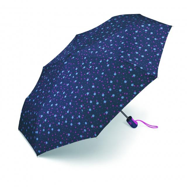 Umbrelă automată Esprit Easymatic Light Bouncing Dots, albastru