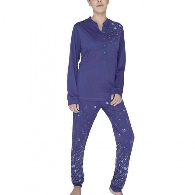 Pijama damă Hajo cu fulgi de nea :: 52/54