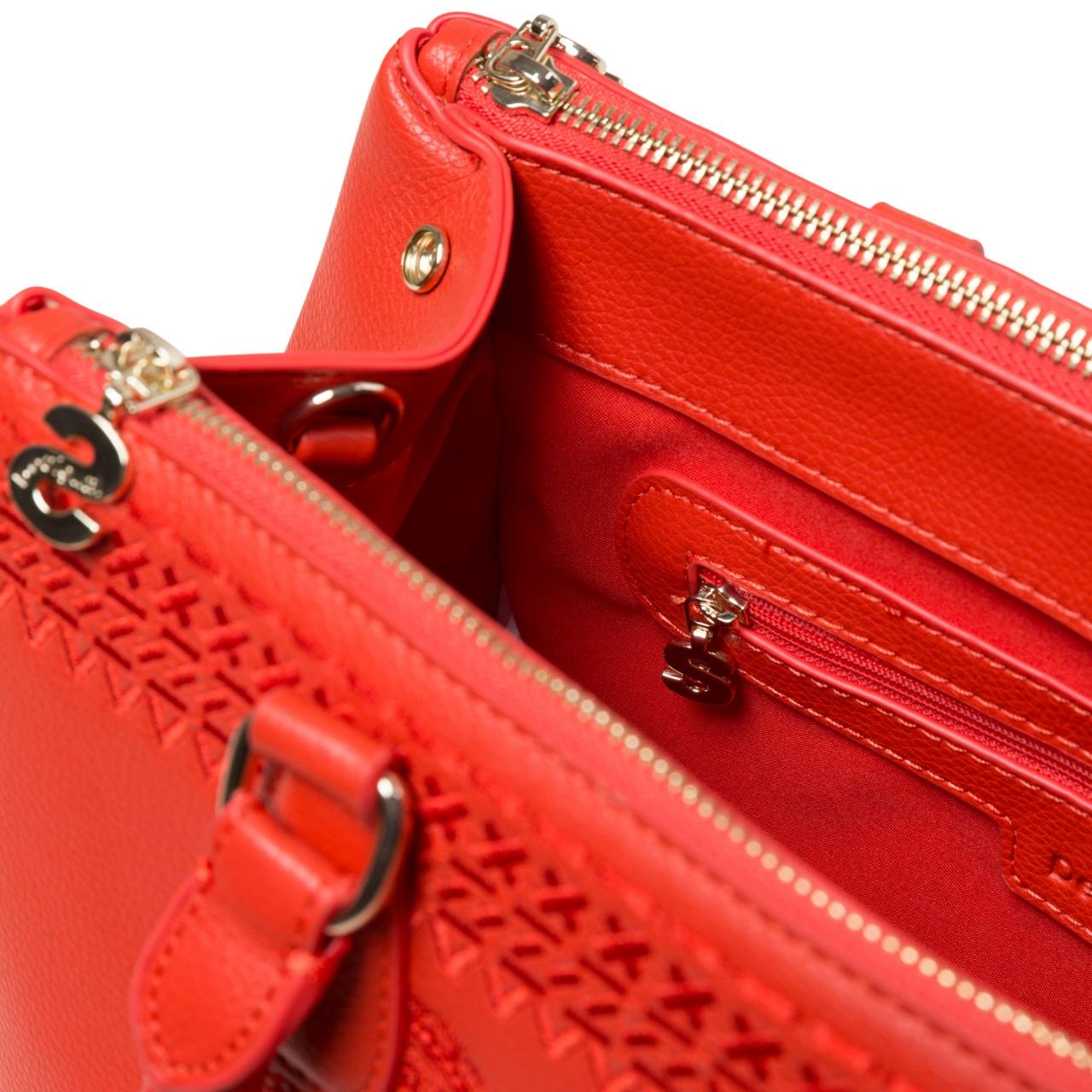 Geantă de damă Desigual Dark Amber Cabo roșu