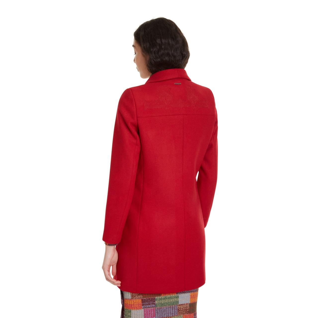 Palton pentru femei Desigual Abrig Ramal roșu :: 46