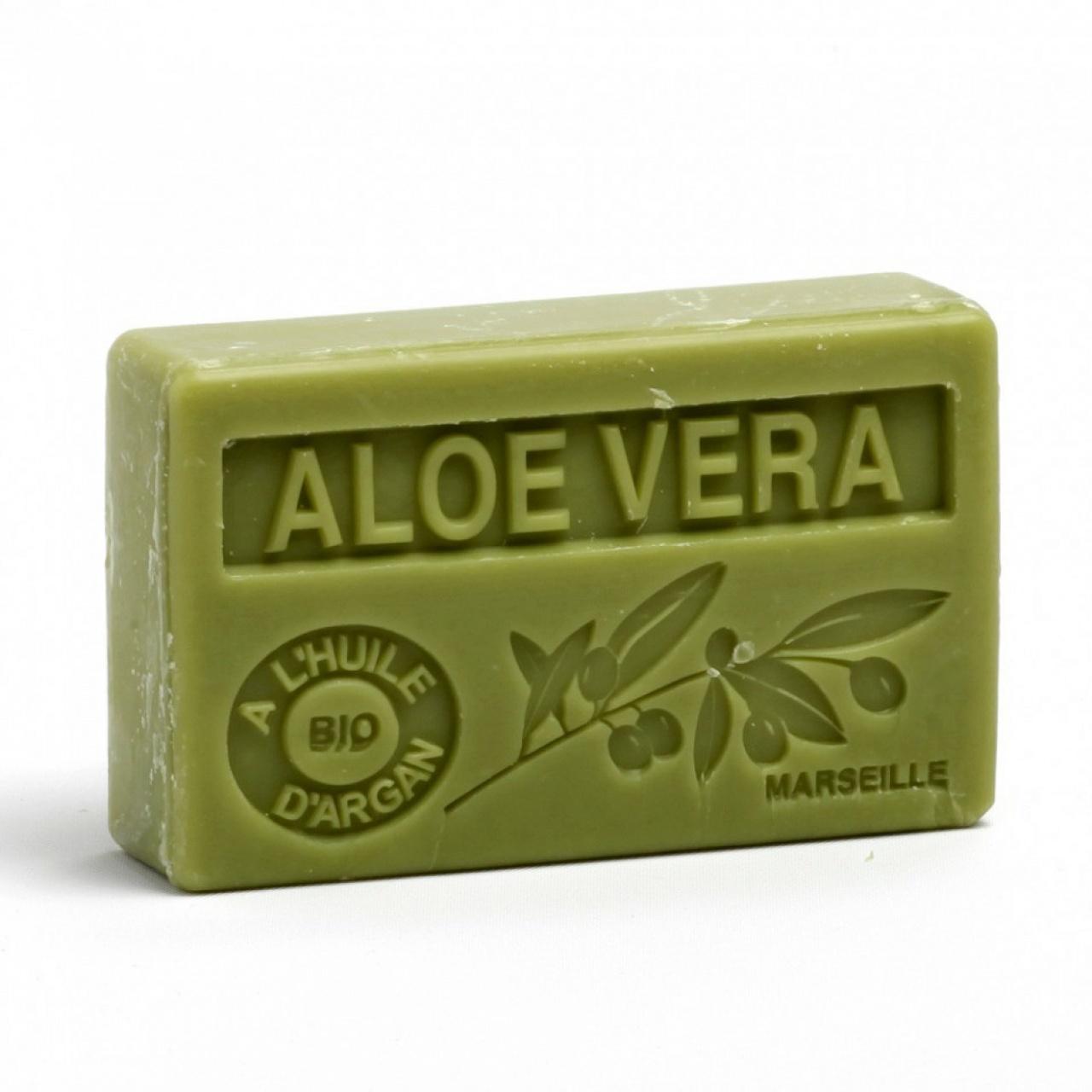 Săpun cu ulei de argan bio – Aloe Vera, 100g