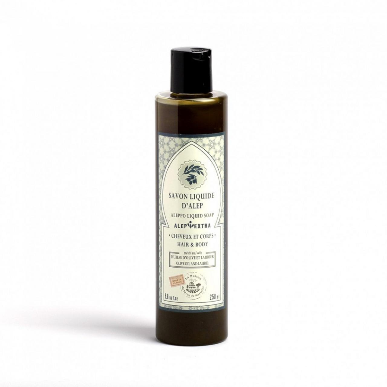 Săpun lichid pentru corp și păr d`Alep – dafin, 250ml
