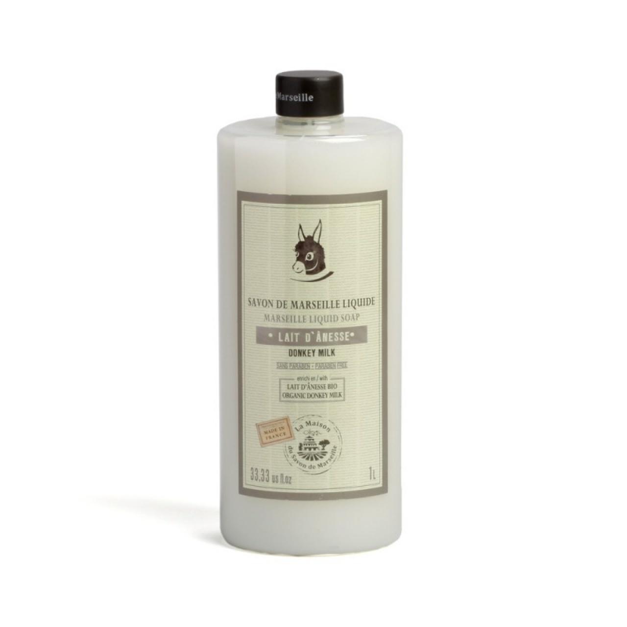 Săpun lichid de Marsilia – lapte de măgăriță bio, 1l