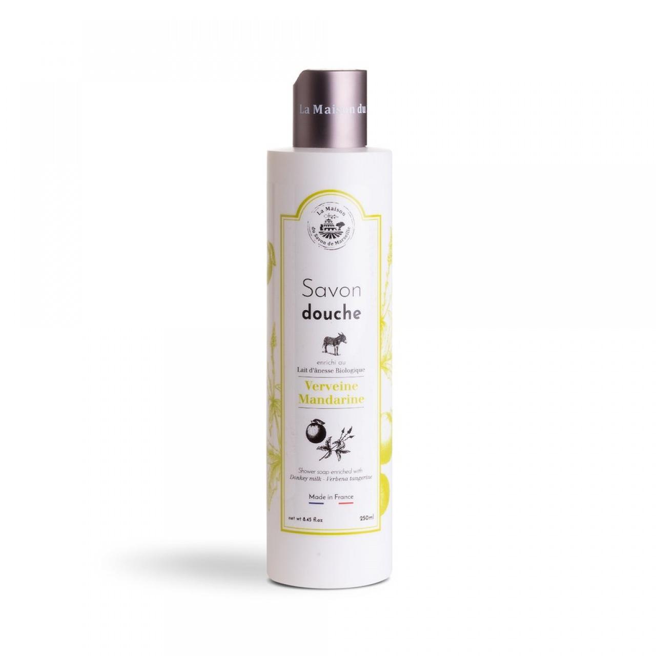 Săpun lichid de duș – lapte de măgăriță, verbină, mandarină, 250ml