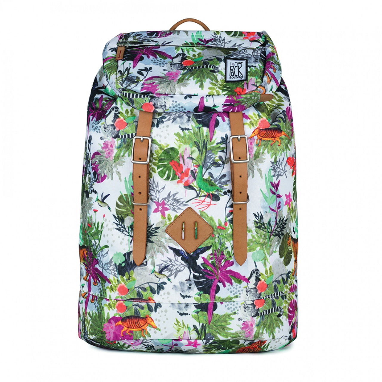 Rucsac mare The Pack Society Multicolor Jungle